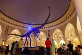 un dinosaure à tête d'allumette