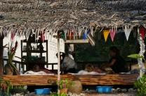 séance de massage face à la mer