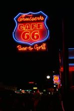 Route 66 by night